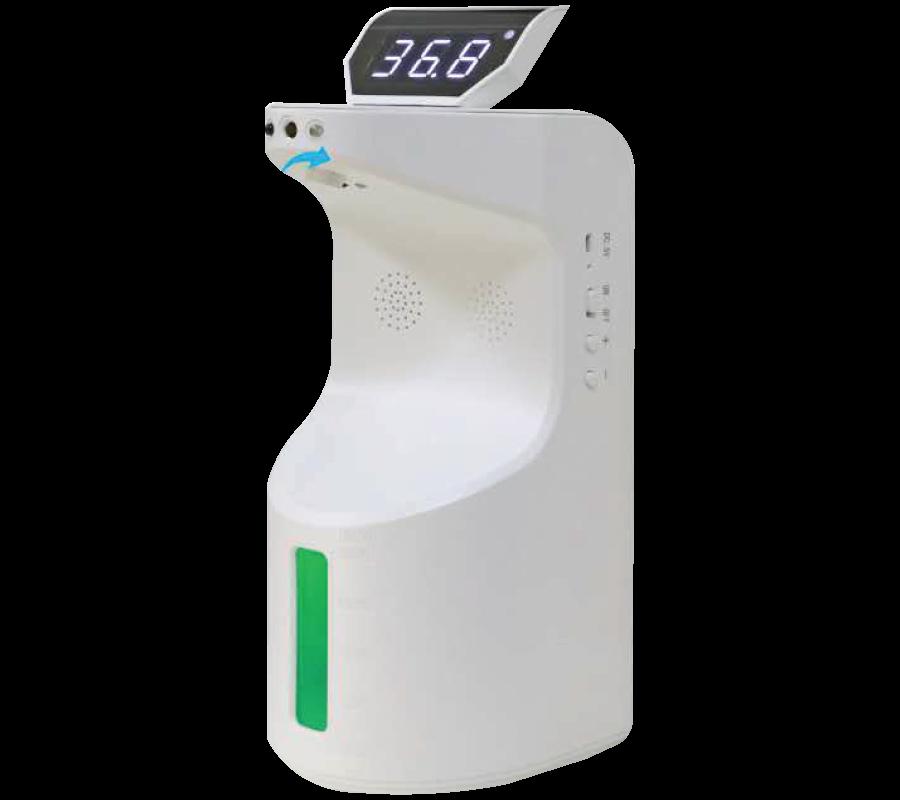 Sanitizer and Temperature detector